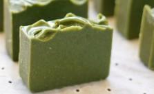 Muestra de cómo hacer jabón de algas marinas