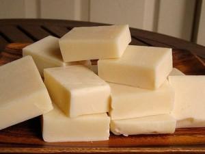 Muestra de un jabón de coco